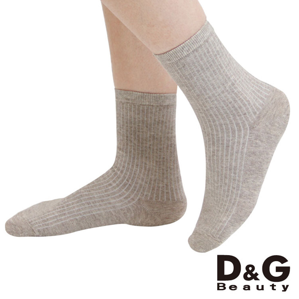 d&g直條暗紋3/4女襪-d385 (襪子/短襪)