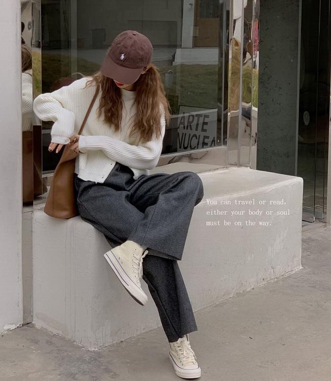 FOFU-韓版顯瘦高腰百搭休閒褲寬鬆簡約長褲【08SG04623】