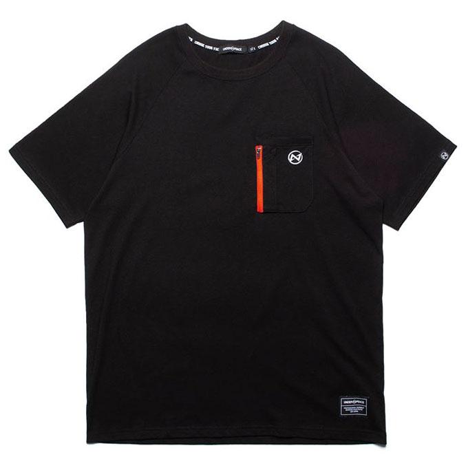 UNDER PEACE - 20SS MATURE / ZIP POCKET TEE 簡約口袋 短T (黑色)