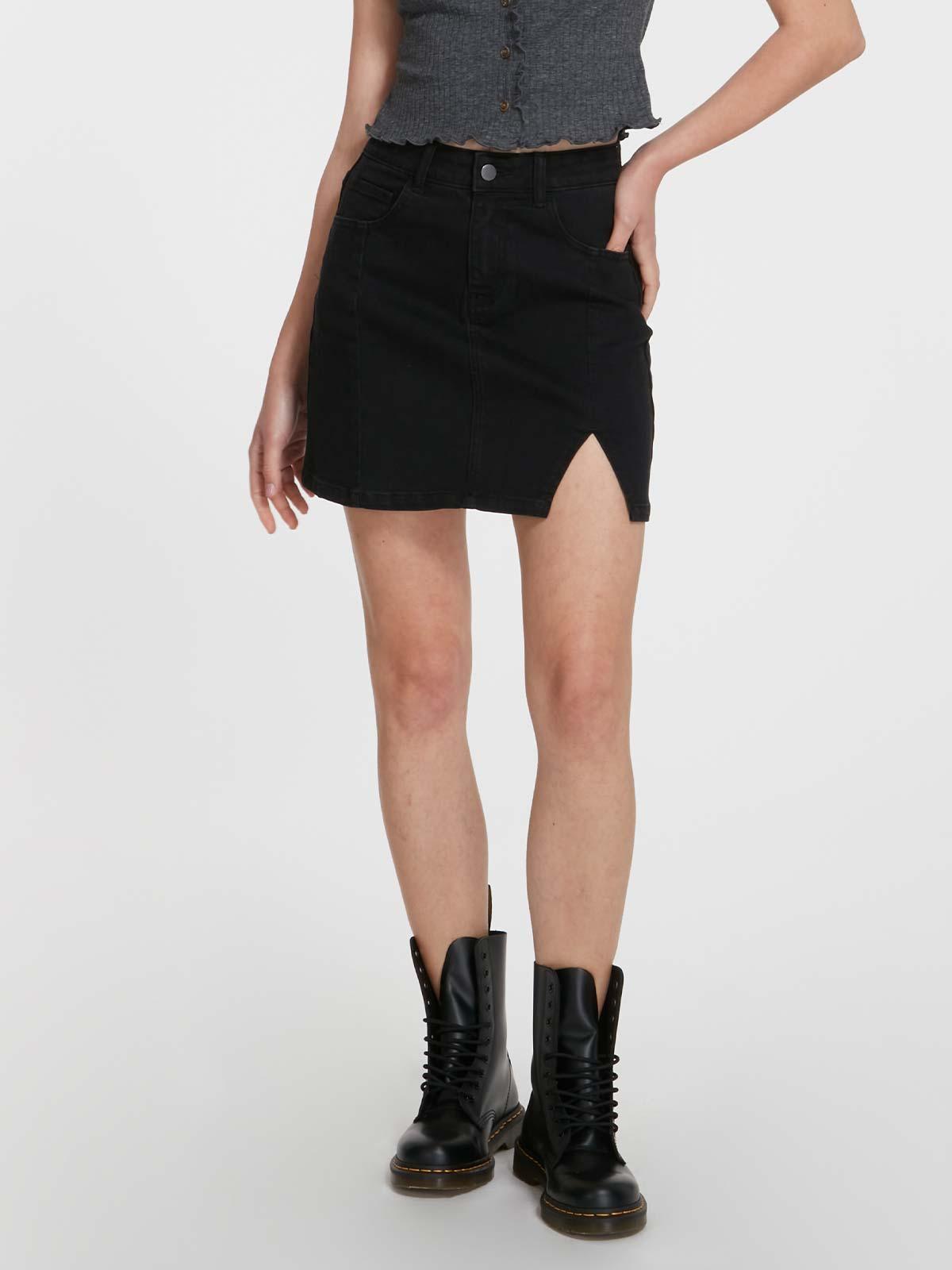 DEVA, 高腰牛仔短裙褲 PN08922