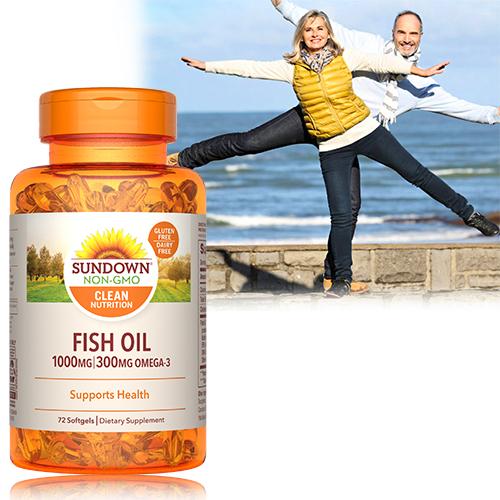 高單位精純魚油(72粒/瓶)【Sundown日落恩賜】-商品有效期至2022/4月底