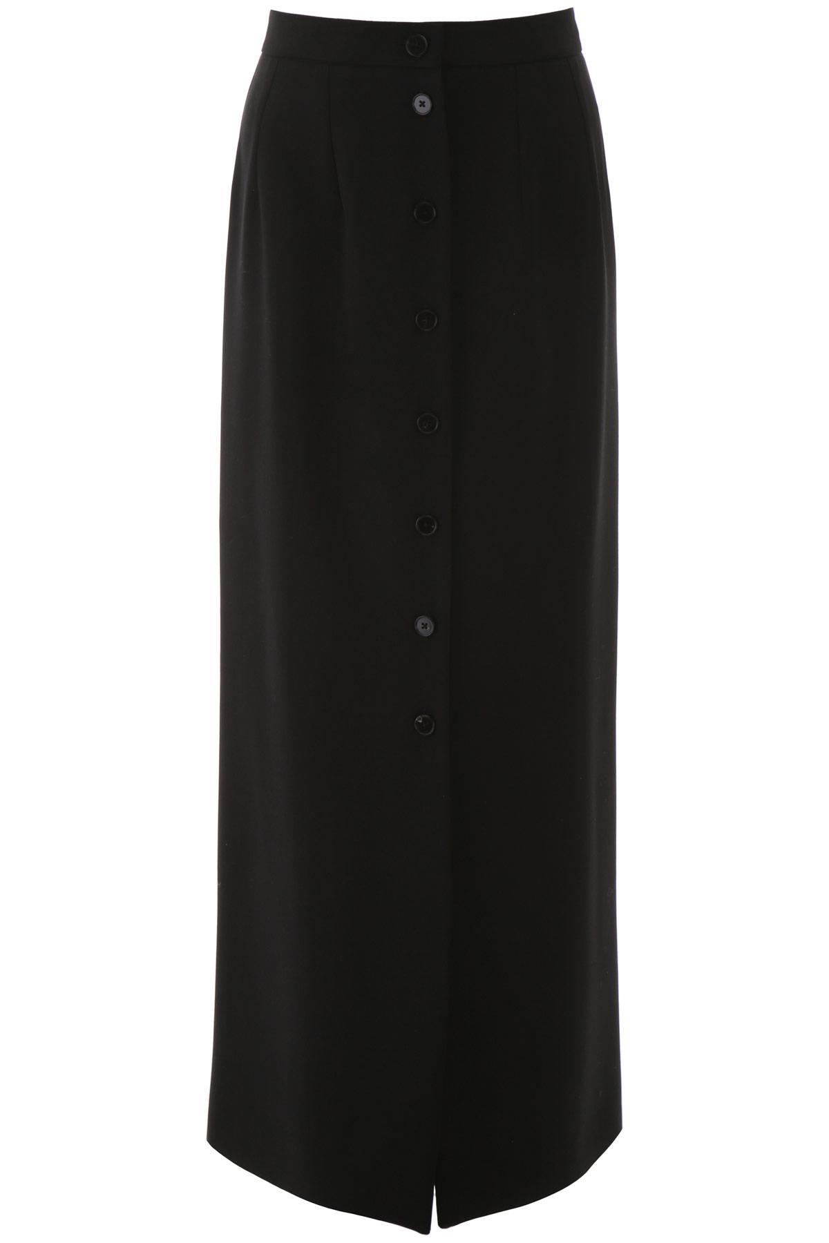 JIL SANDER GABARDINE SKIRT 32 Black Wool