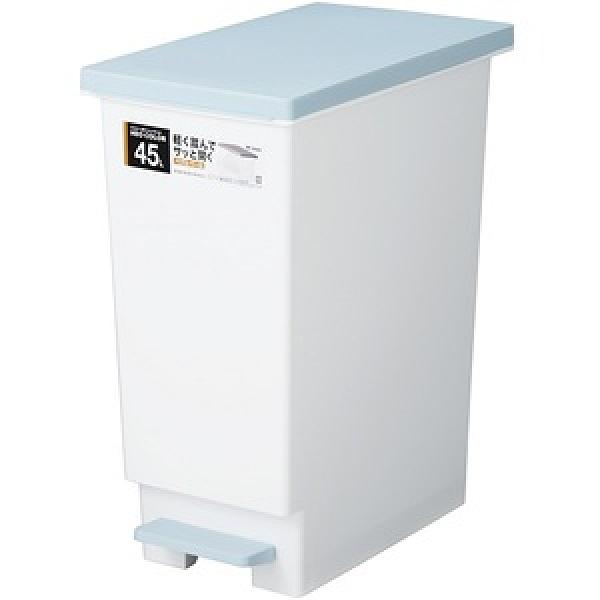 【日本 TONBO】NEO系列踩踏式分類垃圾桶45L-藍色