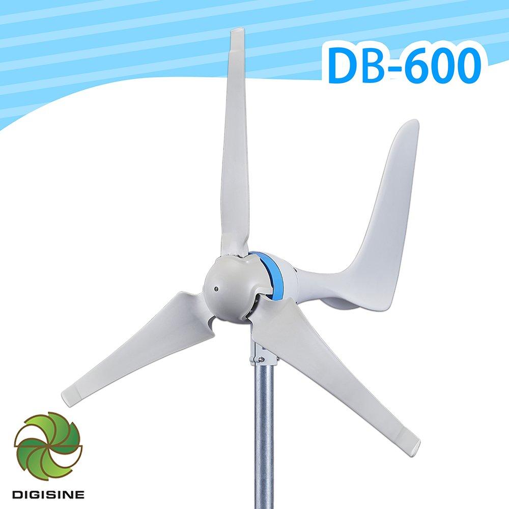 Digisine★DB-600 水平型輕量化600W風力發電機 [ 最大發電量可達600W ] [ 三米風速以上即可發電 ]