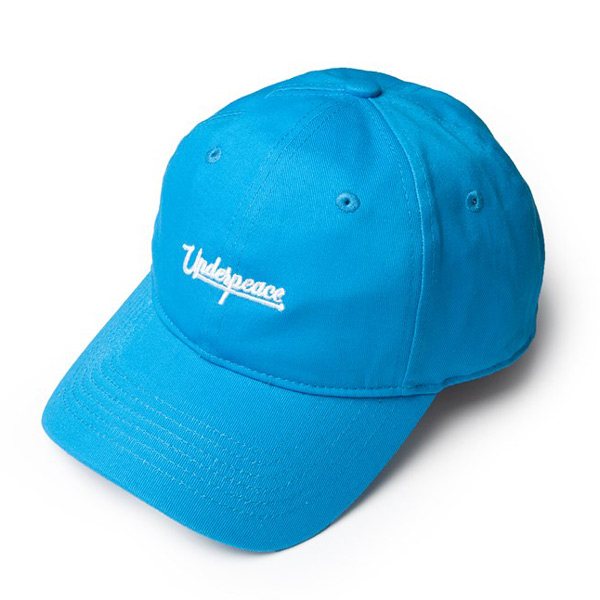 UNDER PEACE - 19SS CURSIVE LOGO / BASEBALL CAP 草寫文字 老帽 / 棒球帽 (藍色)