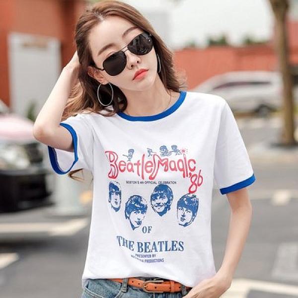韓版短袖T卹上衣S-2XL韓版寬鬆純棉打底衫上衣H412-3358.皇潮天下