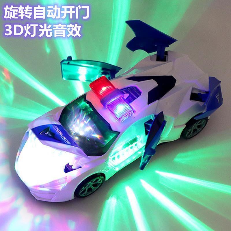 ★電動跳舞變形旋轉萬向警車男孩玩具抖音同款兒童小孩女孩小汽車★