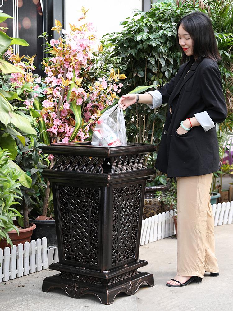 新莫家戶外垃圾桶鑄鋁家用室外園林果皮箱花園庭院別墅小區垃圾桶