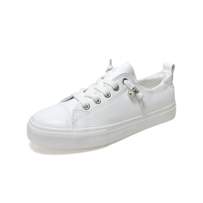 真皮小白鞋 不咬腳百搭小白鞋 休閒鞋 女鞋