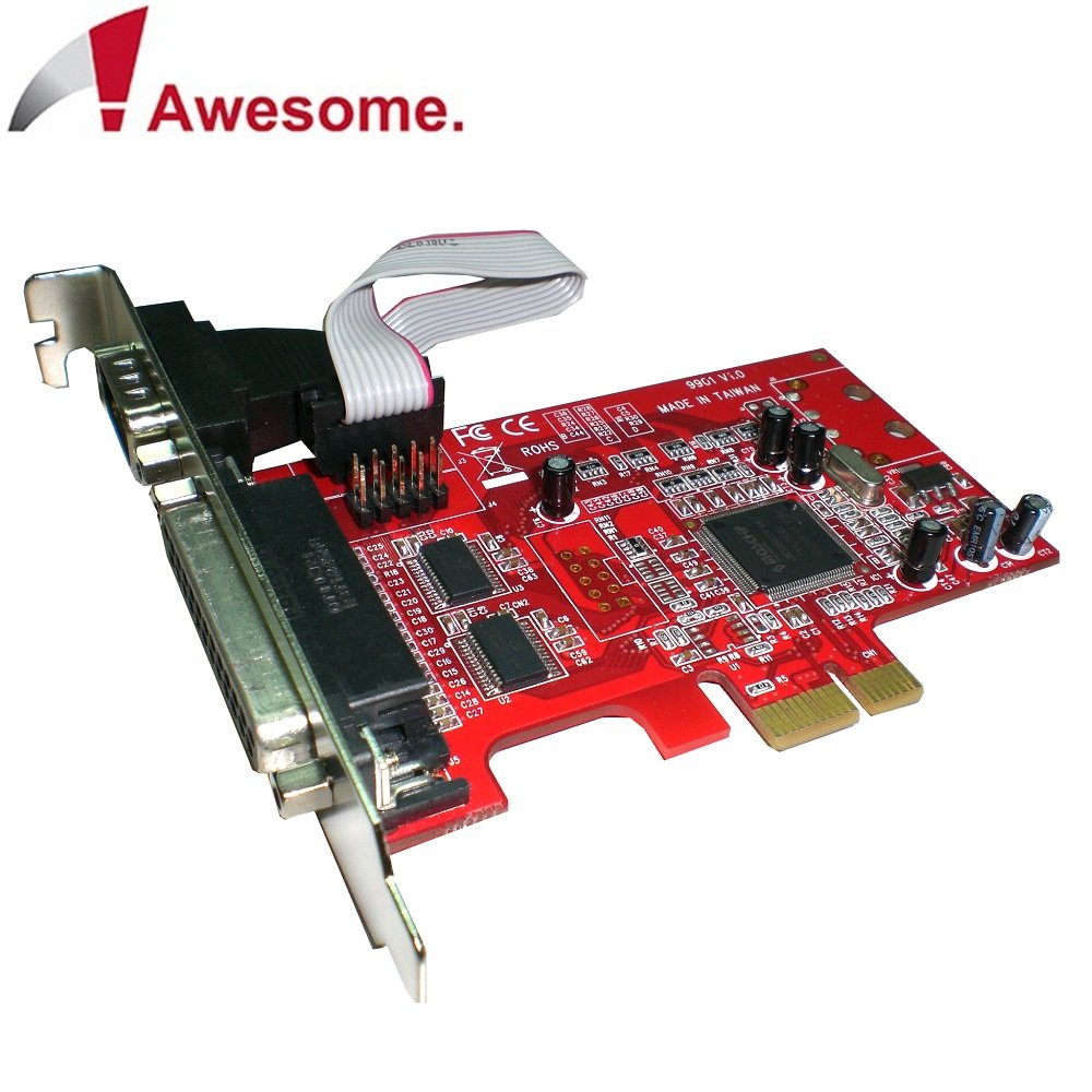 Awesome PCIe 1埠Printer+2埠RS-232 I/O卡-AWD-9901PR2