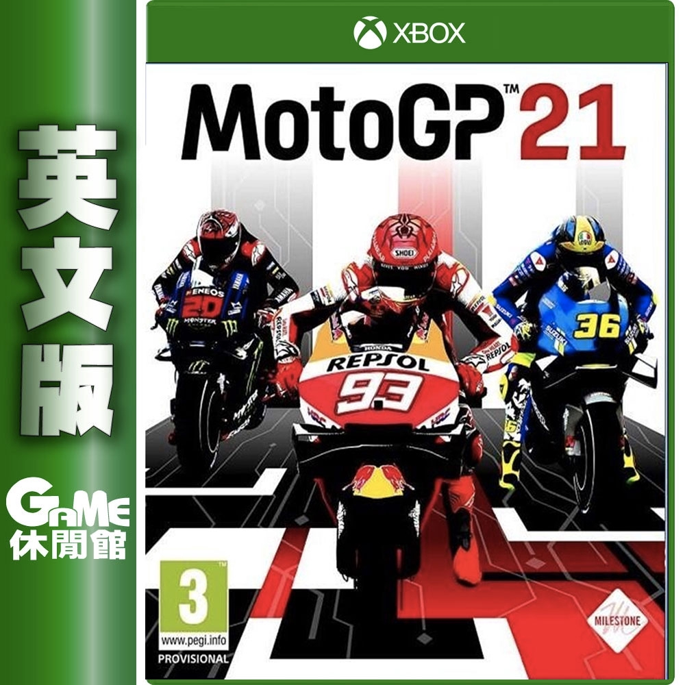 XBOX世界摩托車錦標賽 Moto GP 21 英文版4/22上市【預購】【GAME休閒館】