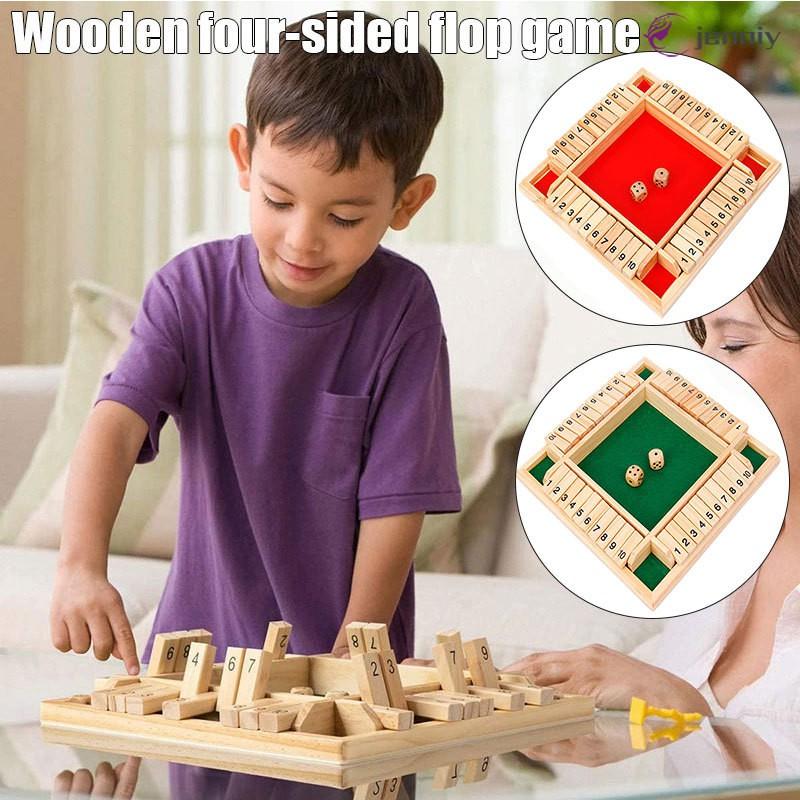 木板遊戲經典的家庭數學遊戲為孩子們家庭聚會禮物耐用