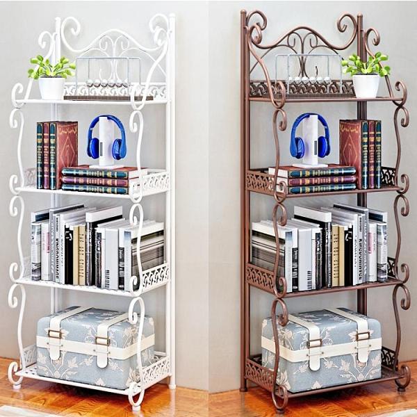簡易兒童小型書架置物架落地宿舍簡約收納架學生鐵藝繪本書櫃家用【快速出貨】