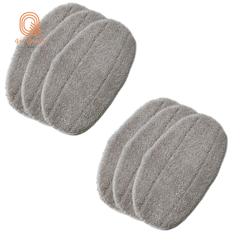 蒸汽拖把布超細纖維拖把頭配件拖布替換布,用於Leifheit Clean Tenso蒸汽拖把,6件