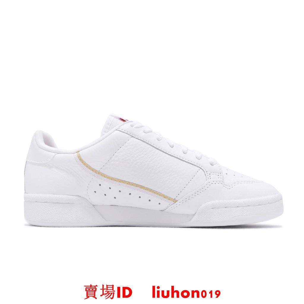 adidas 休閒鞋 Continental 80 白 金標 紅 愛心 情人節 女鞋 三葉草 FW6391