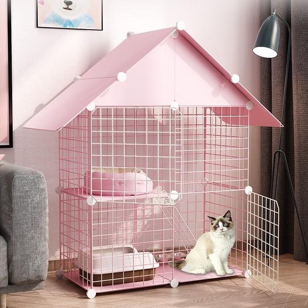 【現貨】貓籠子 家用貓別墅室內貓舍貓籠帶廁所超大自由空間小中型貓咪貓窩