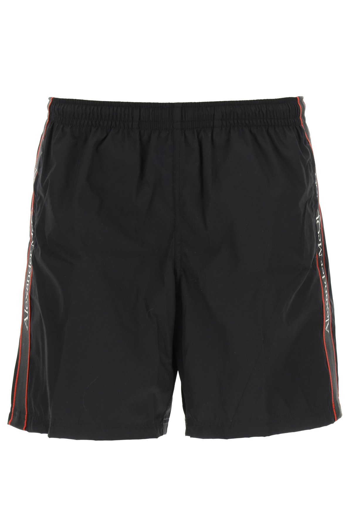 Alexander mcqueen swim trunks with logo selvedge