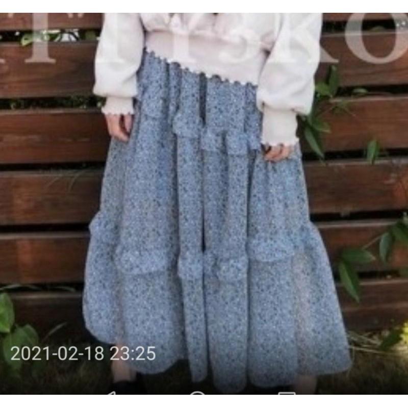 patty3 閃連豹紋花裙,全新未拆,藍和粉色各一
