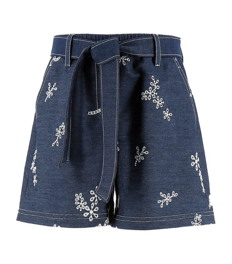 Ermanno Scervino Junior Denim Logo Shorts