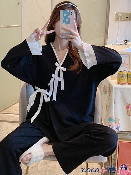 和服 純棉睡衣女士秋冬日式和服長袖春秋季薄款性感可愛學生家居服套裝 coco衣巷