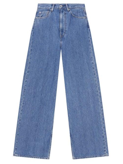 Ganni - X Levi's Slit-cuff Straight-leg Jeans - Womens - Denim