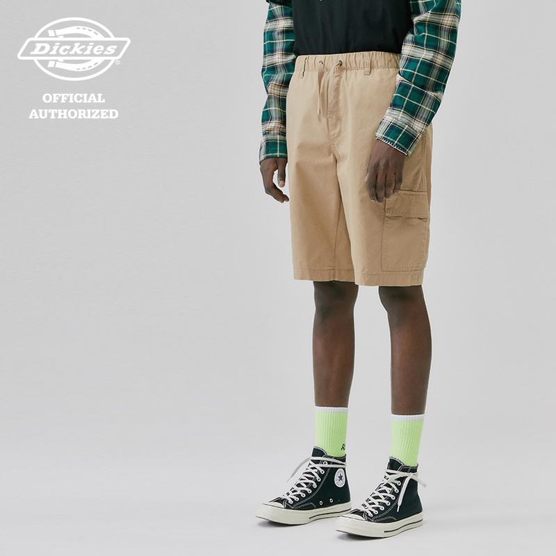【DICKIES】韓國限定 DSP2UPCH835 CARGO STRING SHORTS 口袋短褲 (卡其)