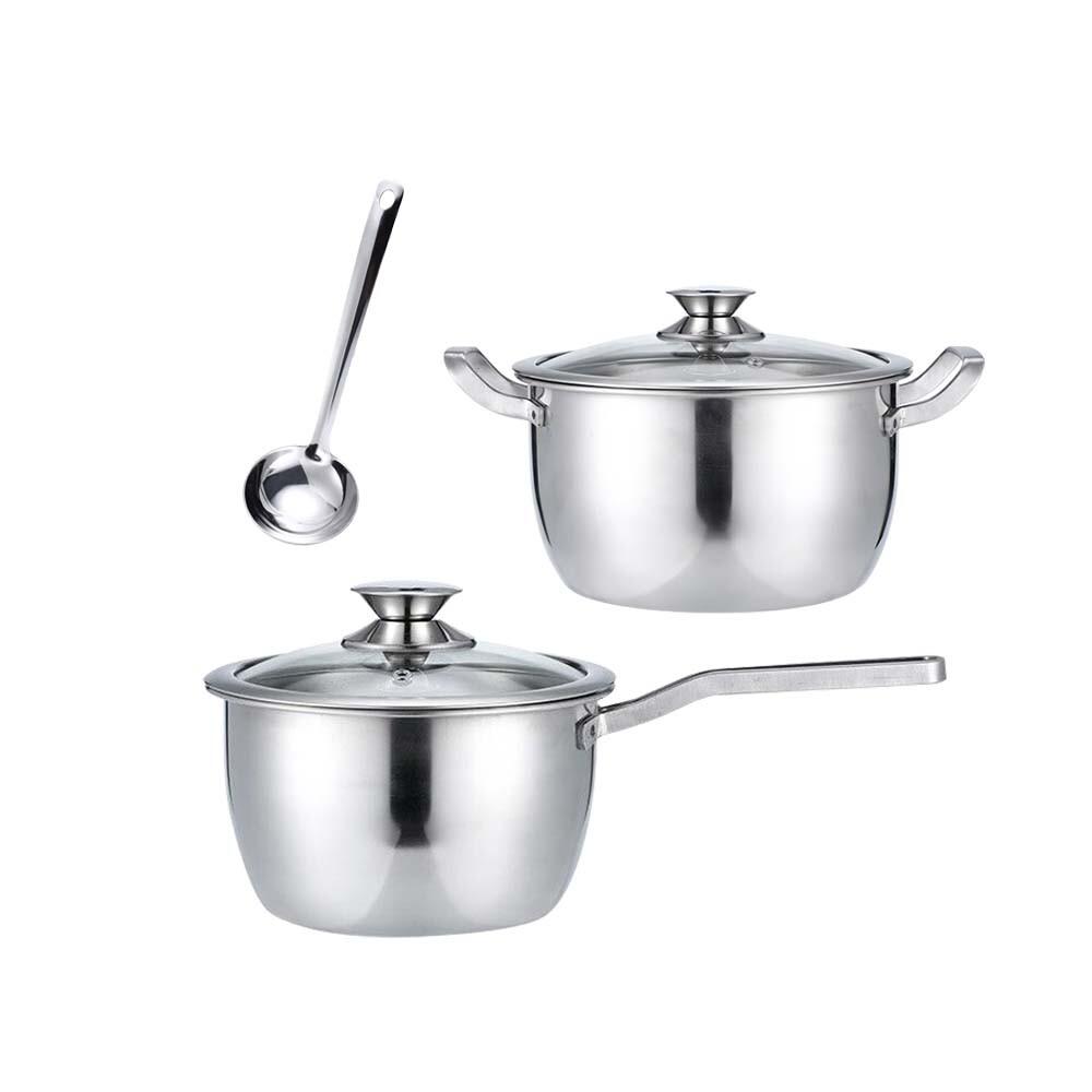 鵝頭牌御膳不鏽鋼雙湯鍋組-ci-1820b+ci-2224b送湯勺