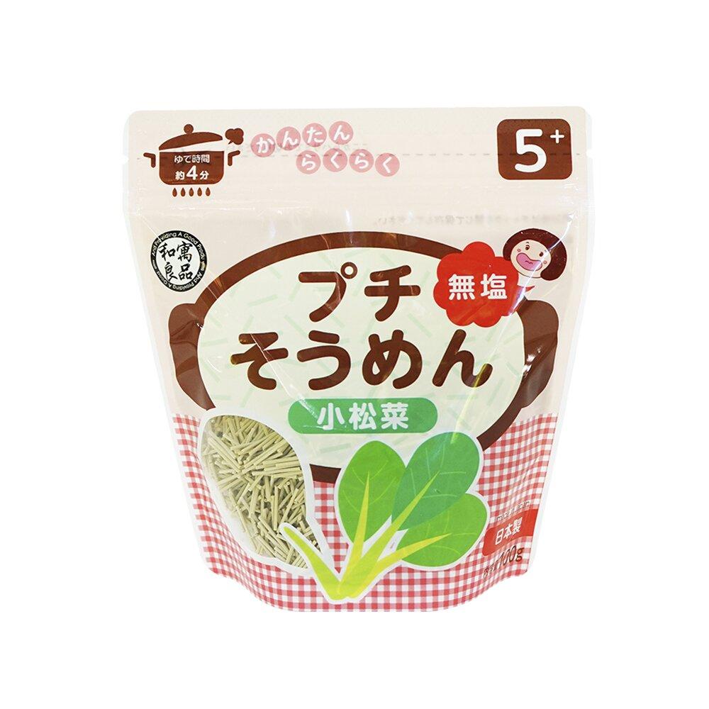 日本和寓良品 寶寶鮮蔬小松菜細麵(5M)
