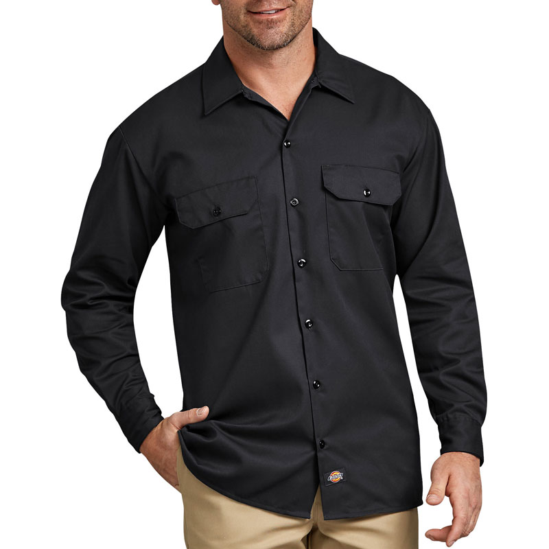 【DICKIES】美線 574 經典長袖 工作襯衫 (黑色BK)