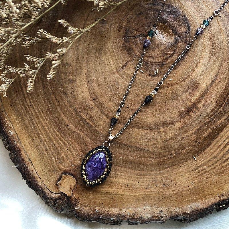 紫龍晶 施華洛水晶 簡單日常 頸鏈