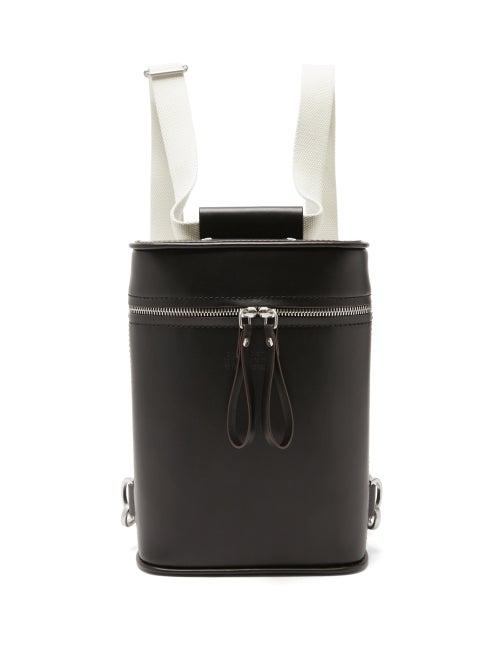 Maison Margiela - Four-stitches Leather Backpack - Mens - Black