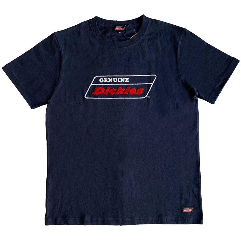 【DICKIES】日線 0274-4631 毛巾布文字 短T (深藍)