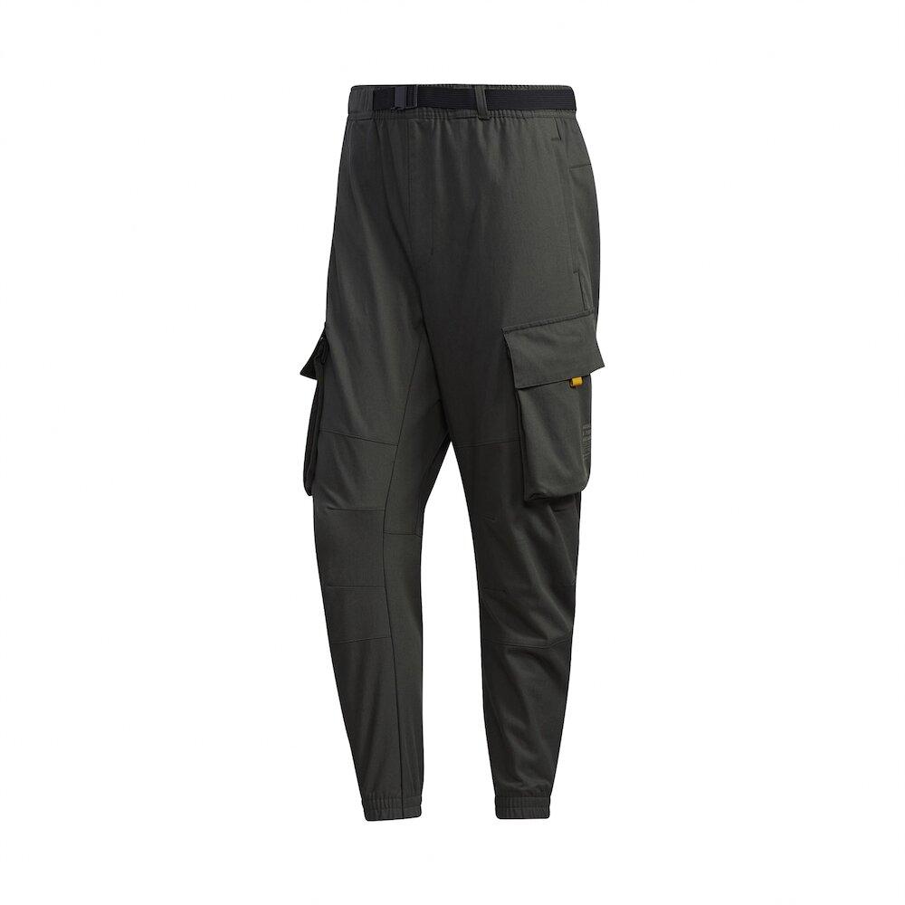 ADIDAS 長褲 Cargo Pants 休閒 男款 工裝 大口袋 流行 穿搭推薦 綠 黃 [GM4436]
