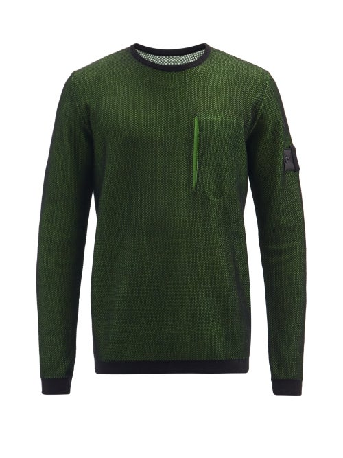 Stone Island Shadow Project - Logo-patch Cotton-jersey And Mesh Sweatshirt - Mens - Black