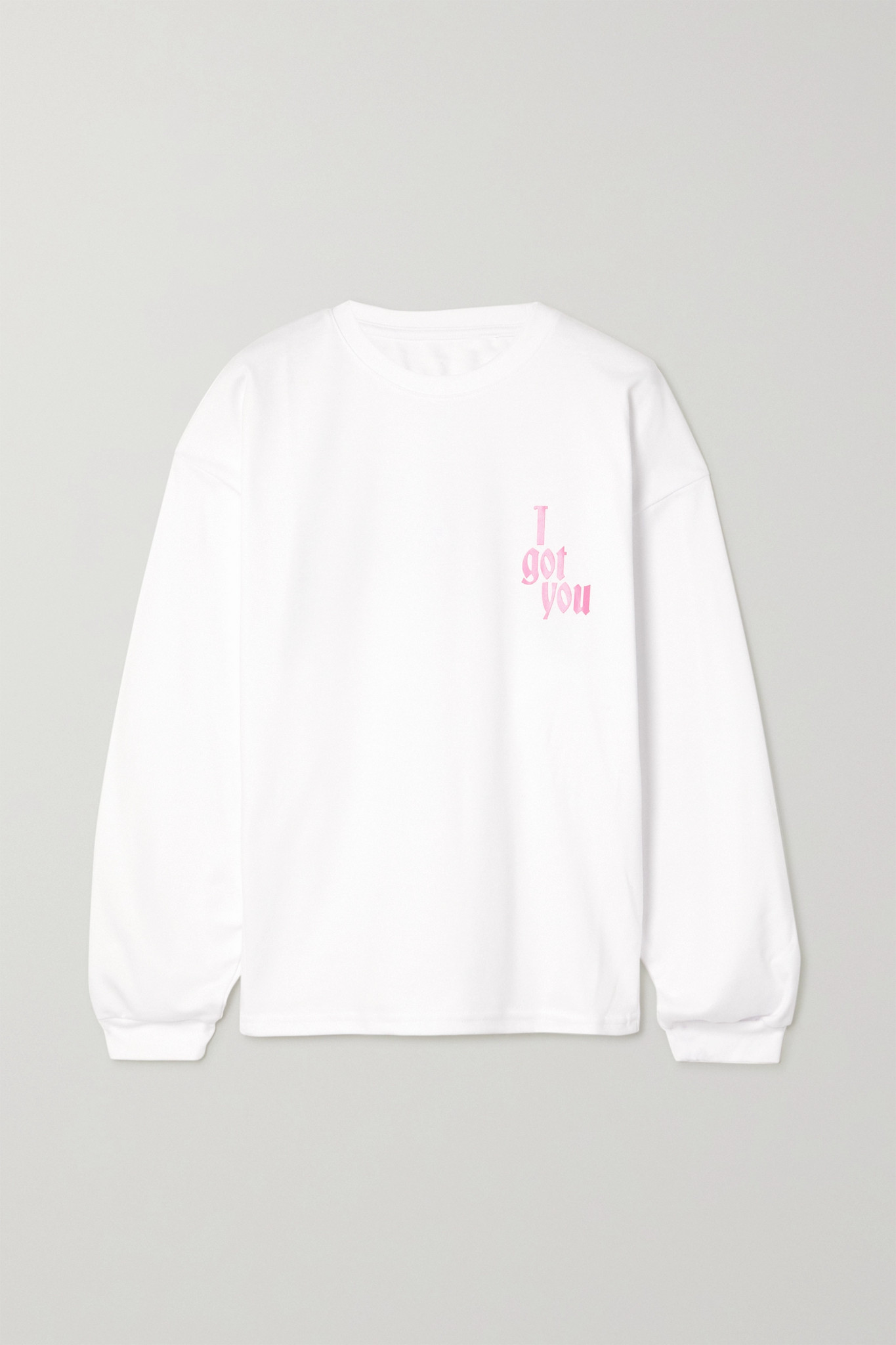 AMINA MUADDI - 【国际妇女节专题系列】印花纯棉平纹布上衣 - 白色 - small