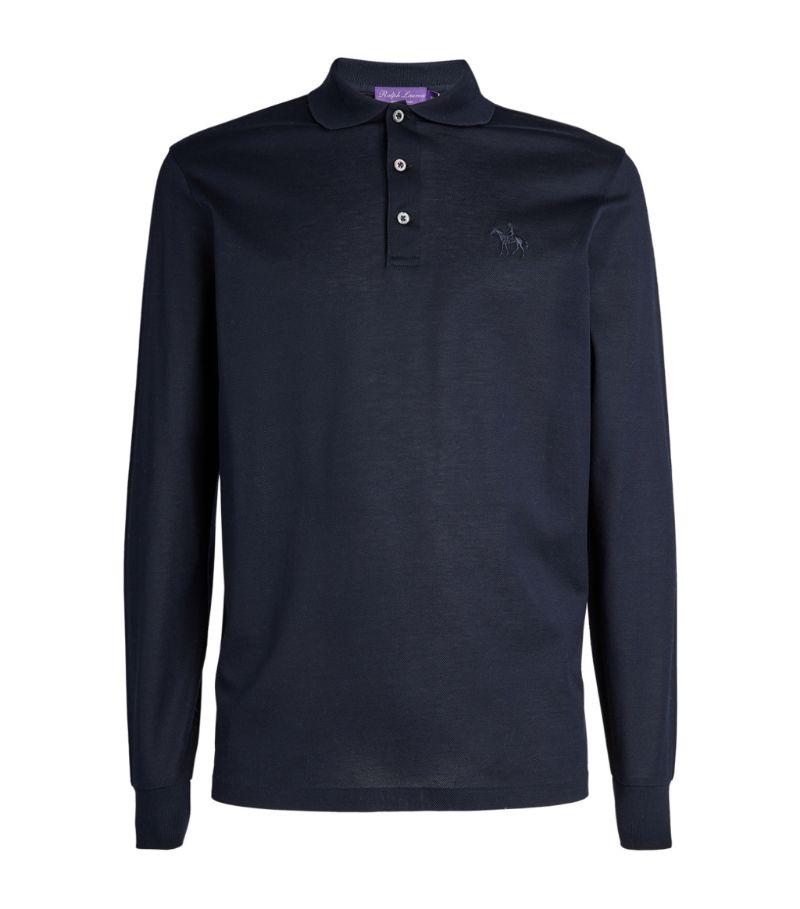 Ralph Lauren Purple Label Mercerised Cotton Long-Sleeved Polo Shirt