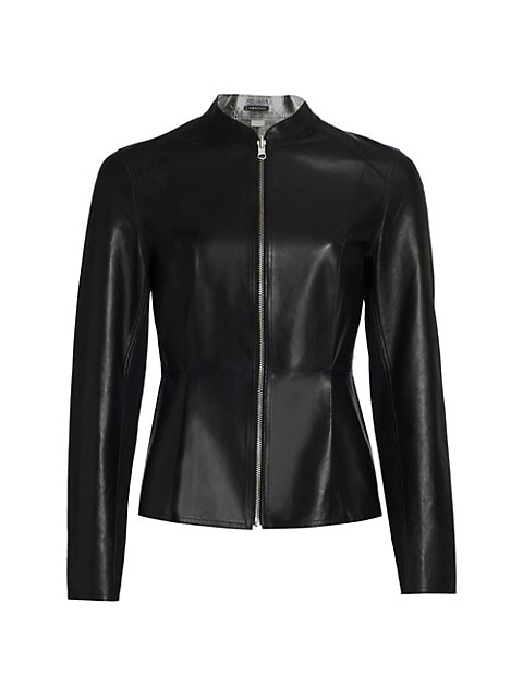 Rachel Reversible Metallic Leather Jacket
