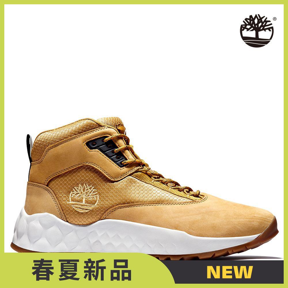 Timberland 男款小麥色Solar Wave磨砂革中筒健行靴|A2BPV231