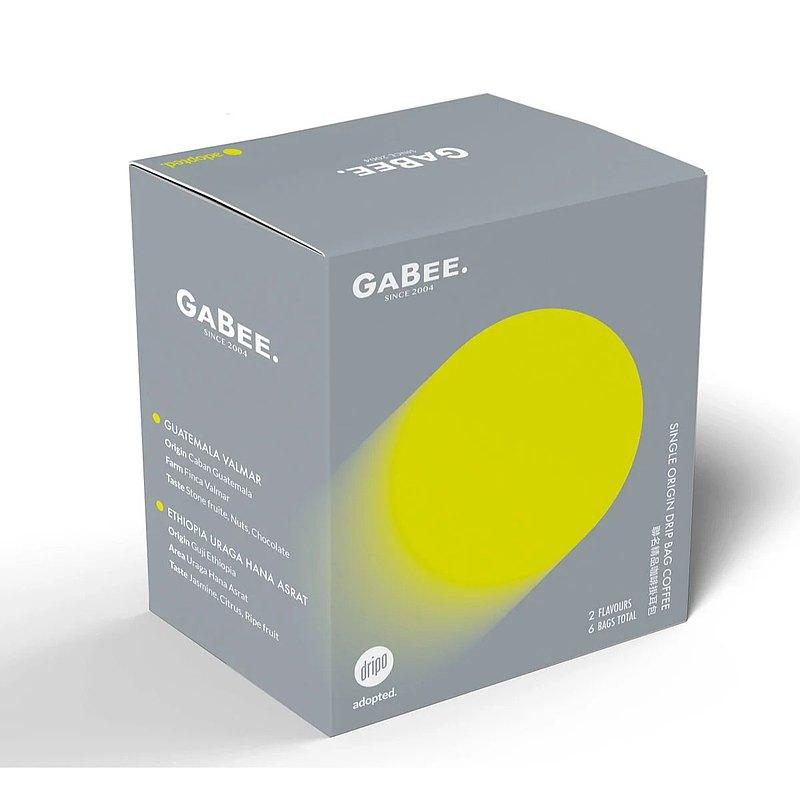 【DRIPO 聯乘】GABEE.x adopted | 精品單品咖啡掛耳組合 | 6包
