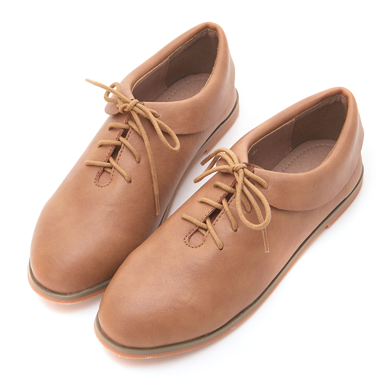 【新年88折】2.Maa-素面簡約造型衣領綁帶包鞋 - 棕