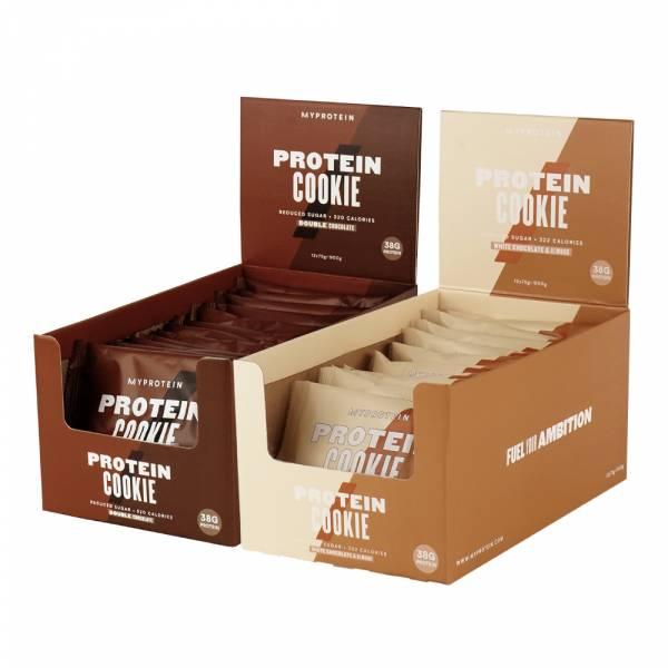 【英國Myprotein】高蛋白曲奇餅乾 盒裝/12入 (雙倍巧克力脆片/白巧克力杏仁)