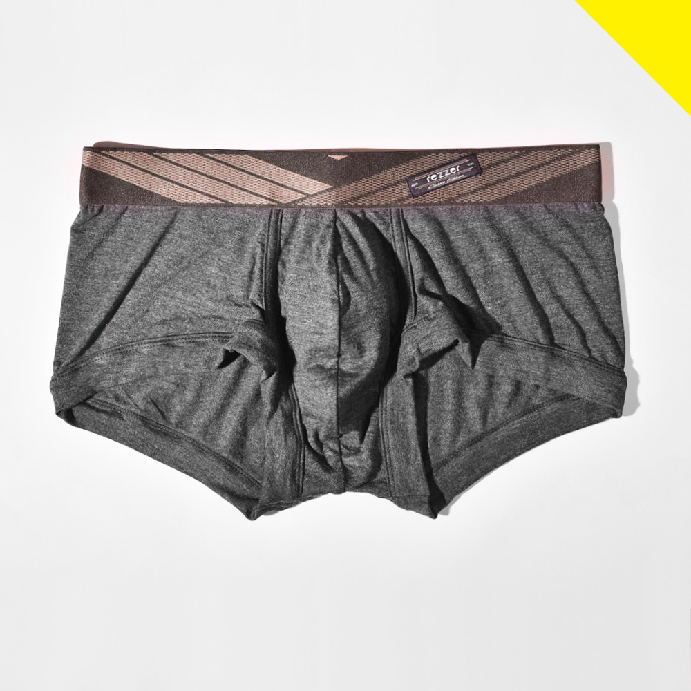 【零碼 S、M、L、XL 】▶低腰◀四角褲-盜獵者-深灰【超細纖維】