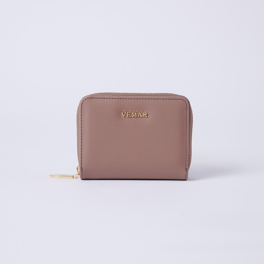 VEMAR氣質時尚拉鍊短夾(奶茶可可)