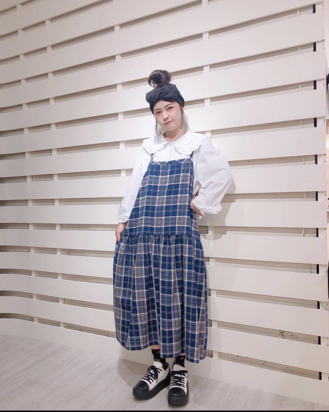 Chemistry_Girls - 韓國 格紋 吊帶裙 (三色)