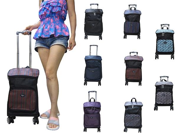 ~雪黛屋~Roberta 後背360度飛機輪主袋+外袋共四層拉桿分離三用包小容量拉桿分離單雙肩背拉桿NR730