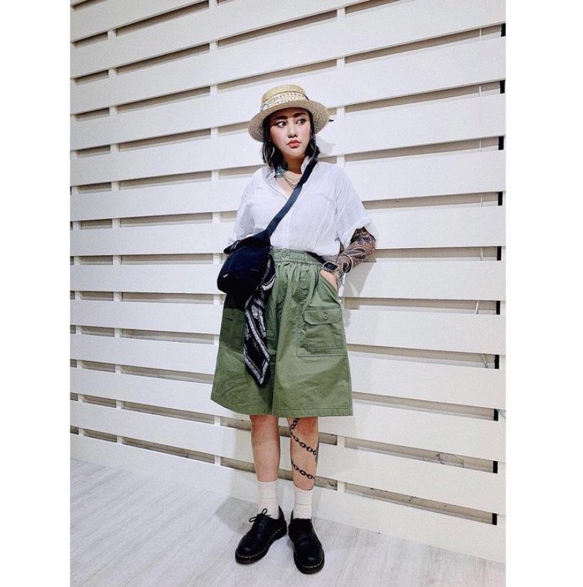 Chemistry_Boys - 韓國 質感 口袋短褲 (綠色)