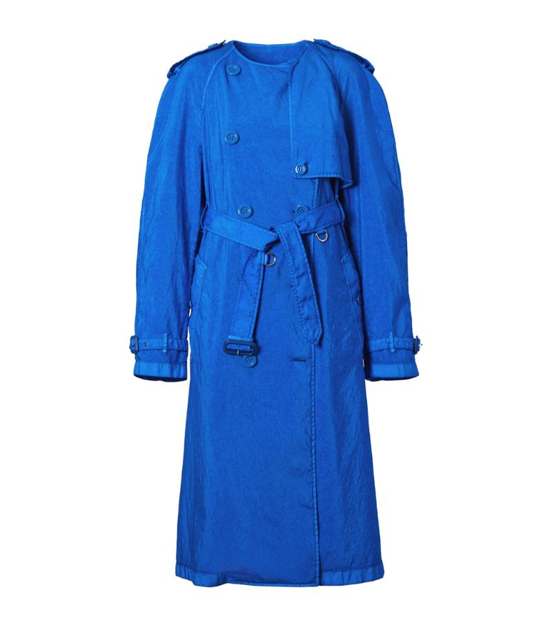 Burberry Collarless Trench Coat
