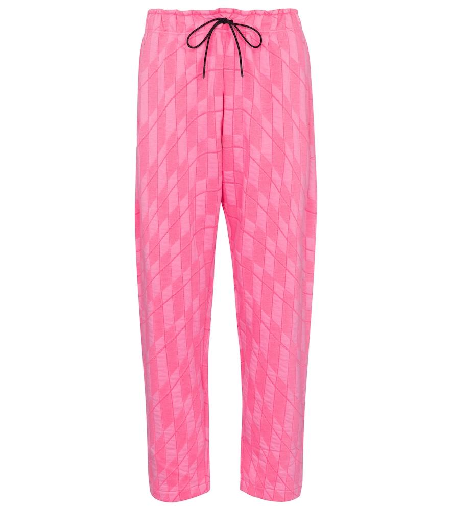 Mid-rise straight fleece sweatpants