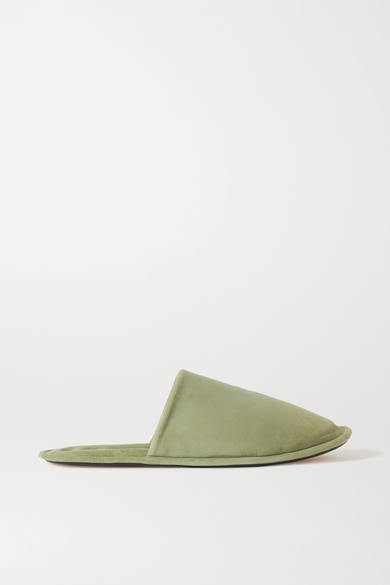 LOEWE - 绒面革拖鞋 - 绿色 - IT38