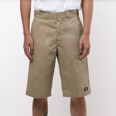 【DICKIES 】WR640 13吋 中腰直筒斜紋布 工作短褲 (KH卡其)